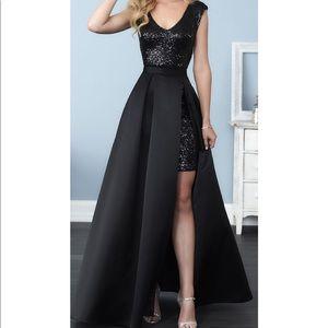 Christina Wu Gold sequins bridesmaid dress size 6